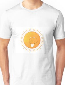 big isolated smiling sun with many freckles Unisex T-Shirt