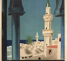 Vintage poster - Tripoli by mosfunky