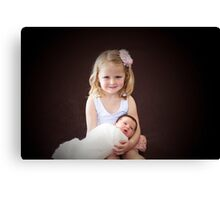 Mia and Millie 2013 Canvas Print
