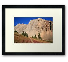 Trail under mountain Framed Print