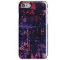 red blue study iPhone Case/Skin