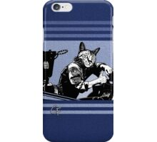 Tom Cat - Blue Stripes iPhone Case/Skin