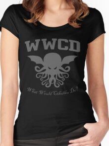 What Would Cthulhu Do? Women's Fitted Scoop T-Shirt