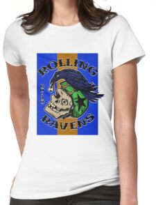 Rolling Ravens Logo Womens Fitted T-Shirt
