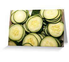Sliced cucumbers Greeting Card