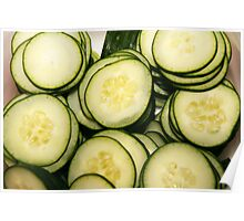 Sliced cucumbers Poster