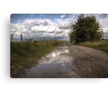 puddle reflections Canvas Print