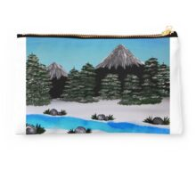 SnowCapped Winter Forest Studio Pouch