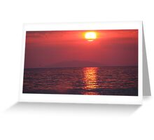 Red sun Greeting Card