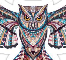 Owl Ethnic Animals Sticker