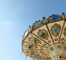 Swing Carousel, Cardiff Bay. by Ruth Blazey