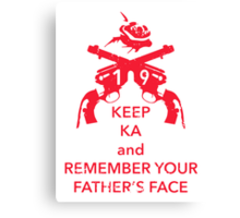 Keep KA - red edition Canvas Print