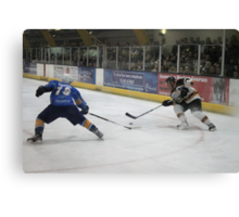 battle for the puck Canvas Print