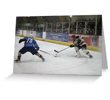 battle for the puck Greeting Card