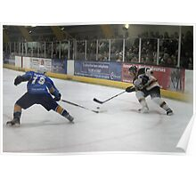 battle for the puck Poster