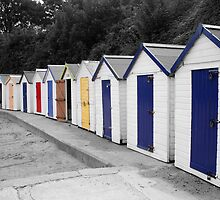 beach huts by oneshotimages
