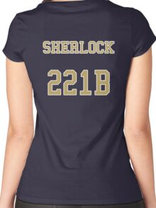 Sherlock 221B Jersey Women's Fitted Scoop T-Shirt
