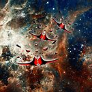 Ships from the Tarantula Nebula iPad/iPhone/iPod cases by Dennis Melling