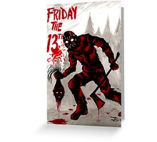 Friday the 13th Greeting Card