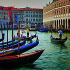 Gondoliers of Venice by David J Baster