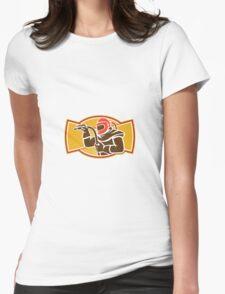 Sandblaster Sandblasting Hose Side Retro Womens Fitted T-Shirt