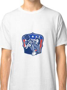 American Fireman Firefighter Fire Hose Classic T-Shirt