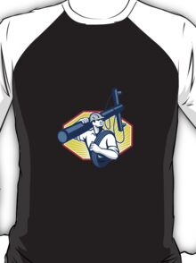 Power Lineman Repairman Carry Electric Pole T-Shirt