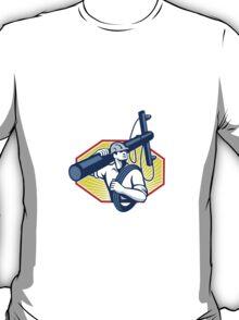Power Lineman Repairman Carry Electric Pole T-Shirt