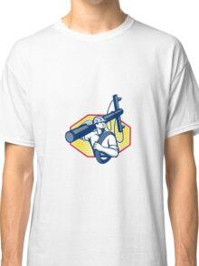 Power Lineman Repairman Carry Electric Pole Classic T-Shirt