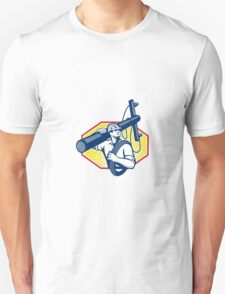 Power Lineman Repairman Carry Electric Pole Unisex T-Shirt