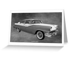 1956 Ford Fairlane Victoria Greeting Card