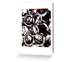 splattering & masking Greeting Card