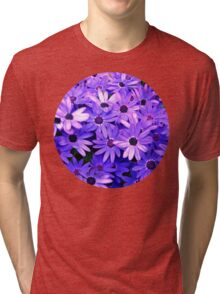 Purple flowers Tri-blend T-Shirt