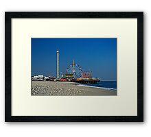 Funtown Pier - As It Was Framed Print