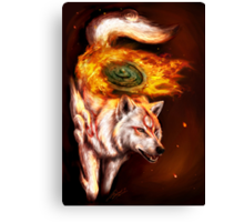 Okami wolf realistic style Canvas Print
