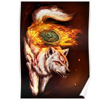 Okami wolf realistic style Poster