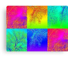 Trees in South Australia - an andy warhol patchwork effect Canvas Print