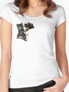 Monster Hunter : Merarou cat Women's Fitted Scoop T-Shirt