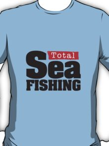 Total Sea Fishing logo (black) T-Shirt