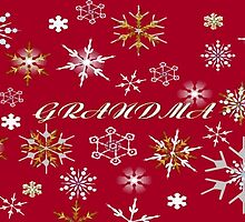 To Grandma At Christmas Greeting With Snowflakes by taiche