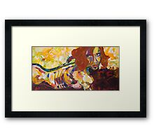 Red Nude Framed Print