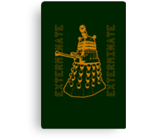 Exterminate Classic Doctor Who Dalek Graphic Canvas Print