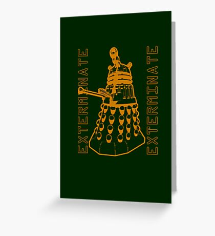 Exterminate Classic Doctor Who Dalek Graphic Greeting Card