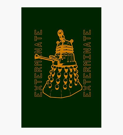 Exterminate Classic Doctor Who Dalek Graphic Photographic Print