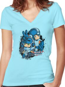 MegaMighty Women's Fitted V-Neck T-Shirt
