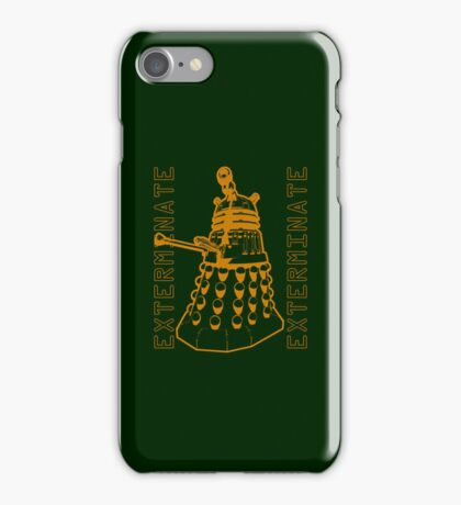 Exterminate Classic Doctor Who Dalek Graphic iPhone Case/Skin