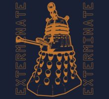 Exterminate Classic Doctor Who Dalek Graphic Kids Clothes