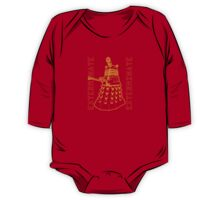 Exterminate Classic Doctor Who Dalek Graphic One Piece - Long Sleeve