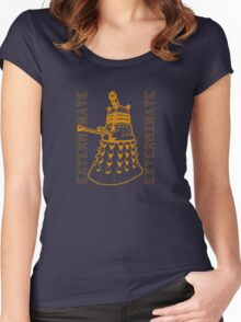 Exterminate Classic Doctor Who Dalek Graphic Women's Fitted Scoop T-Shirt