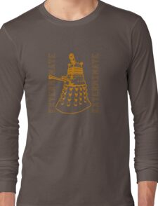 Exterminate Classic Doctor Who Dalek Graphic Long Sleeve T-Shirt